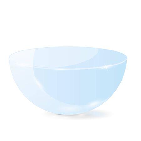 Half sphere. Blue 3d geometric shape. Vector illustration isolated on white background Illusztráció