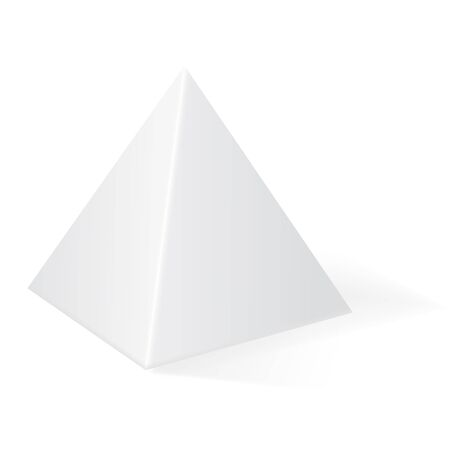 Pyramid. 3d geometric shape. Vector illustration isolated on white background