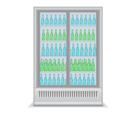 Refrigerator with bottles