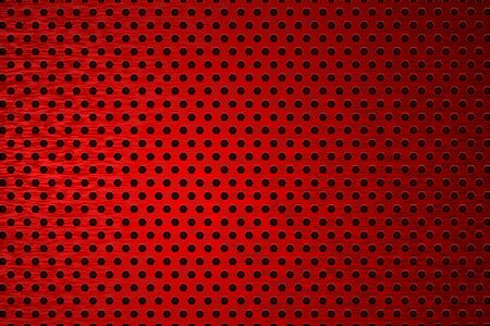 Red metal perforated background. Vector 3d illustration Çizim