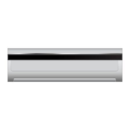 Air conditioner. Vector 3d illustration isolated on white background