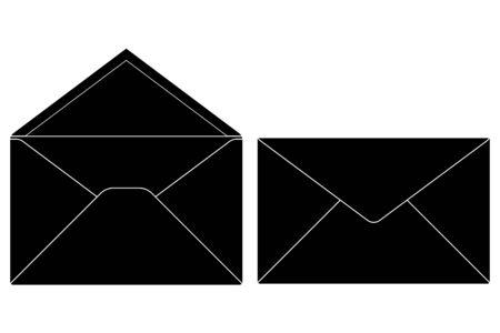 Envelope. Vector icon. Isolated on white background. Çizim