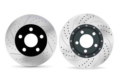 Brake discs. Vector 3d illustration isolated on white background