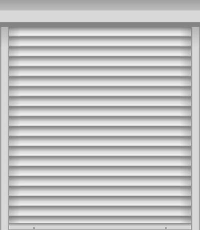 White window shutter or blind. Vector illustration
