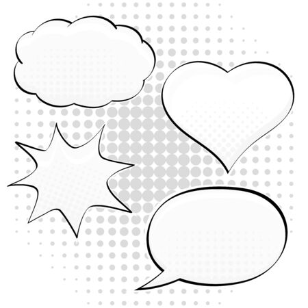 Speech bubbles in different shape. Pop art style. Vector illustration 일러스트