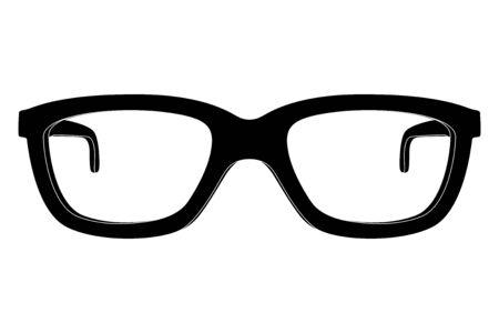 Glasses. Black outline icon. Vector illustration isolated on white background Ilustracje wektorowe