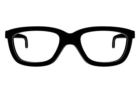 Glasses. Black outline icon. Vector illustration isolated on white background