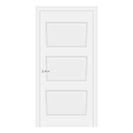 White door. Home domestic interior. Vector illustration isolated on white background