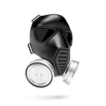 Gas mask. 3d rendering illustration isolated on white background Standard-Bild