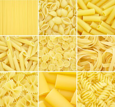 Pasta. Raw italian food isolated on white background Zdjęcie Seryjne