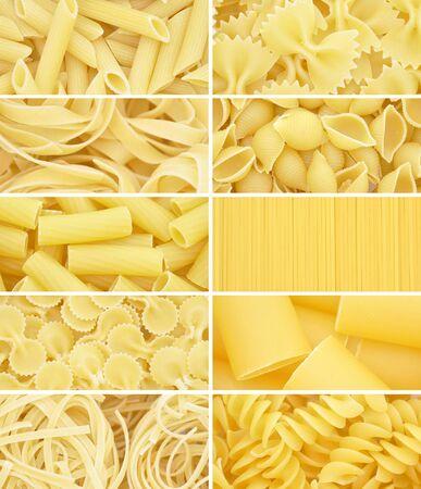 Pasta. Raw italian food isolated on white background Foto de archivo - 150233095
