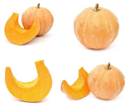 Pumpkin. Ripe vegetable isolated on white background