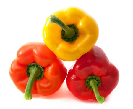 Bell pepper. Colored mix isolated on white background