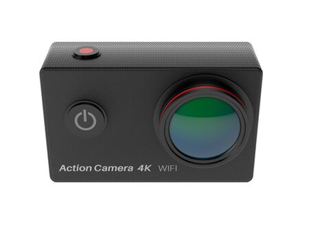Action camera. 3d rendering illustration isolated on white background