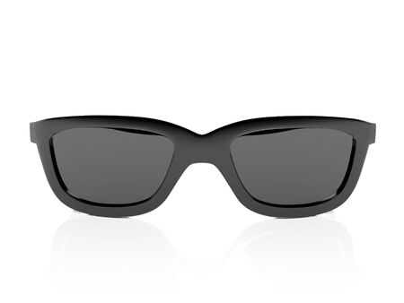 Black sunglasses. 3d rendering illustration isolated on white background Foto de archivo - 150190935