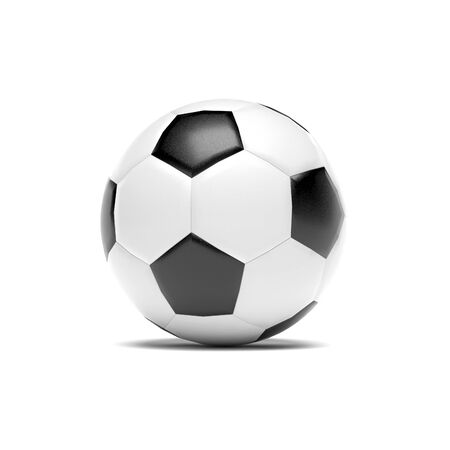 Soccer ball. 3d rendering illustration isolated on white background Foto de archivo - 150185756