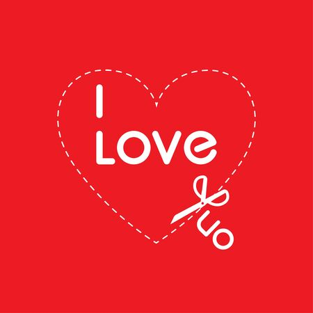I love you invitation card Valentine's day