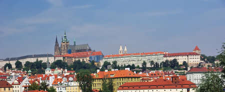 Landscape in Prague with Saint Vitus Cathedral behind  photo