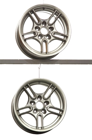 Alloy rims for a sport car Stock Photo