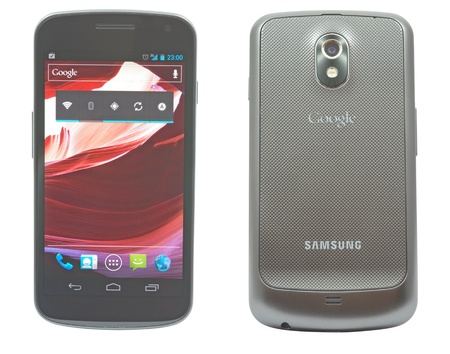 Bucharest - 15 december 2011 - Samsung Galaxy Nexus, the first smartphone with Android 4 Stock Photo - 13512342
