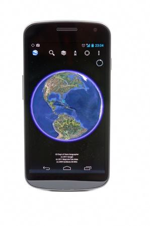 samsung: Bucharest - 15 december 2011 - Google Earth on Samsung Galaxy Nexus
