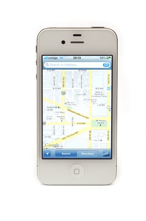 Navigation with iPhone 4S, Google maps application