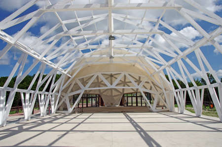 Exhibition tent construction  dome tent  - wood frame