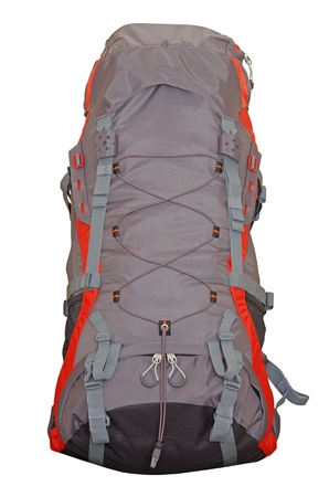 Mountain backpack isolated on a white background