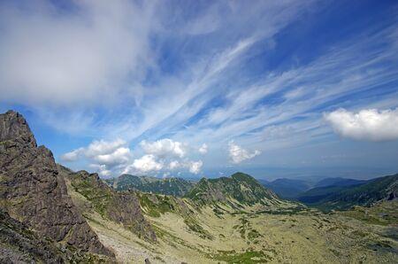 rea: Valea Rea  Bad valley  in Retezat National Park Stock Photo