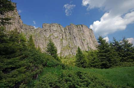 Natural stone wall in Ceahlau mountain, Romania Stock Photo - 13706125