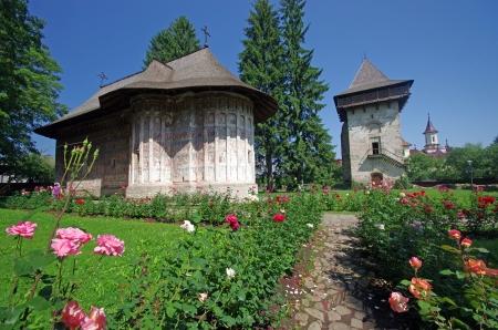 Ancient monastery in Moldavia, Humor monastery Stock Photo