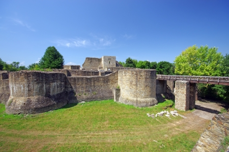 Ancient fortress of Suceava in Moldavia