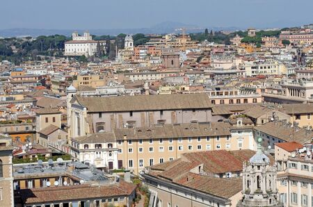 Rome buildings viewed from Vittorio Emanuel Monument photo