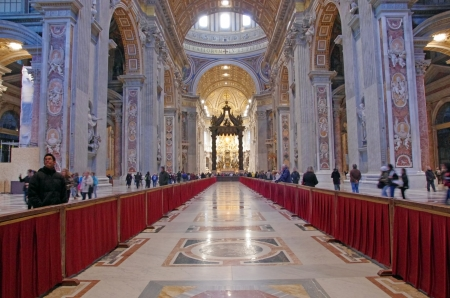 Inside of Saint Peter Basilica, Vatican City