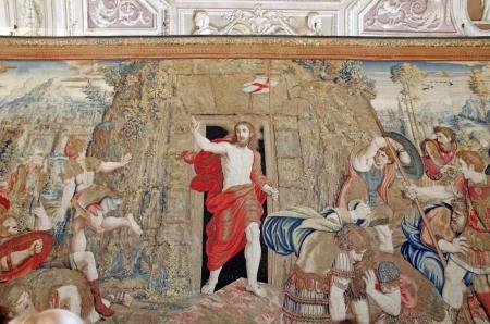 resurrecci�n: Resurrecci�n de Cristo, la tapicer�a en los Museos Vaticanos