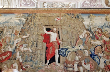 artistic jesus: Resurrection of Christ, tapestry in Vatican Museum