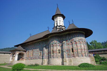 church of Sucevita monastery Stock Photo