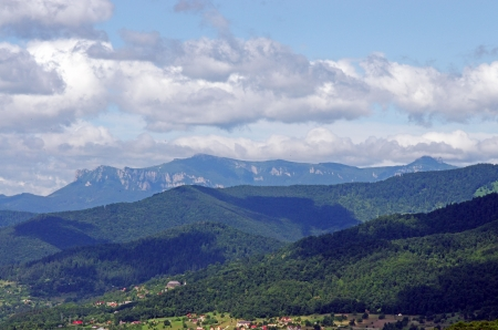 Summer landscape: forest and mountains Stock Photo - 14436129