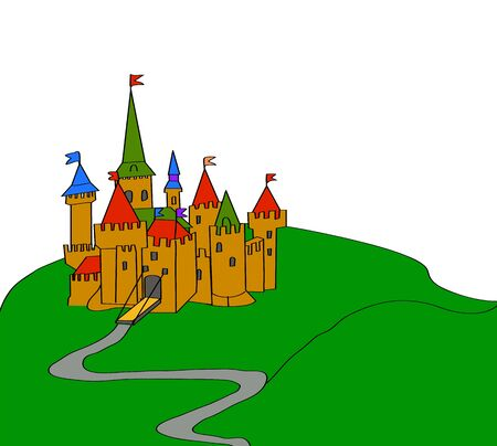 Illustration of a magic castle Stock Vector - 14487287