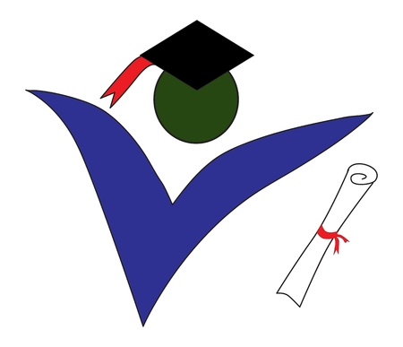 Graduate logo on a white background Vector