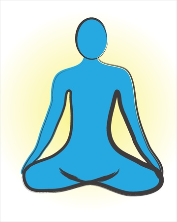 Meditation logo on a white background Stock Vector - 14487291