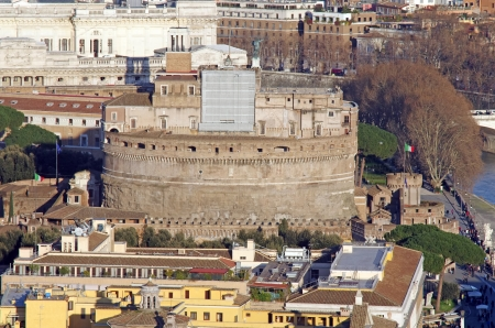 Hadrian's Mausoleum: Castle of Saint Angelo in Rome Stock Photo - 14639052