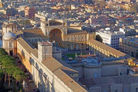 Vatican Museum building view from Saint Peter Basilica