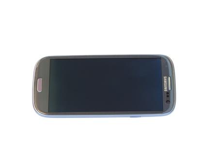 samsung: Samsung Galaxy SIII on a white background