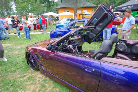 tuned: Piatra Neamt, Romania - August 11, 2012 - Tuned Bmw car at Piatra Neamt Tuning Fest, 10-12.08.2012 Editorial