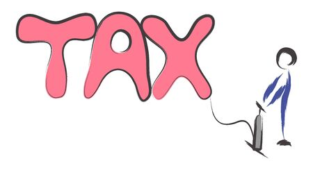 Tax word filling up with an air pump