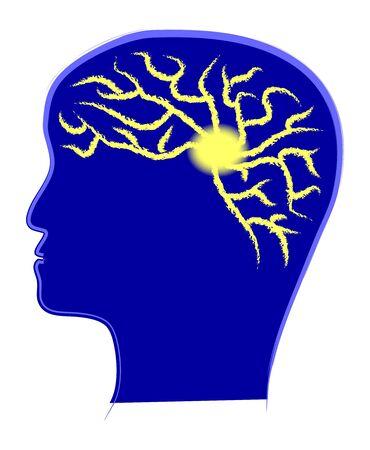Brain power illustration, hand drawn vector image Stock Vector - 14836704