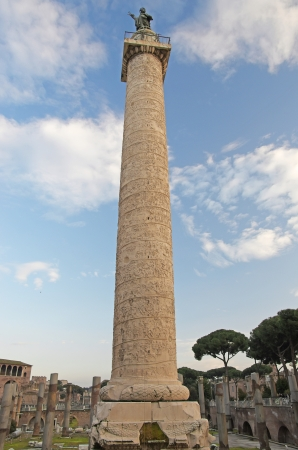 The historical column of Traian, in Rome