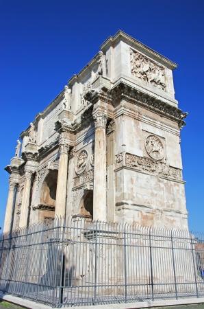 constantin: Arch of triumph of the roman emperor Constantin, Rome Editorial