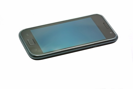 Touch screen phone model, isolated on white Stock Photo - 15285751